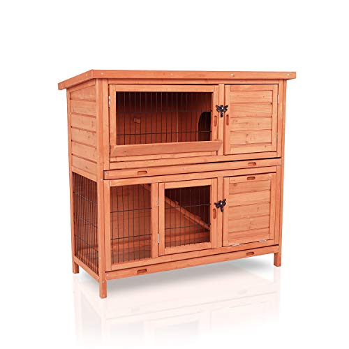 LAZY BUDDY Rabbit Hutch with Waterproof Roof