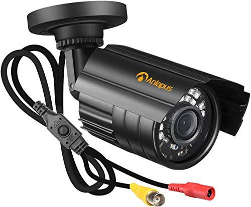 Anlapus 1080P Cámara de Vigilancia Exterior para DVR Kit de Cámara de Seguridad, 20m Visión Nocturna, Modo TVI/CVI/AHD/CVBS