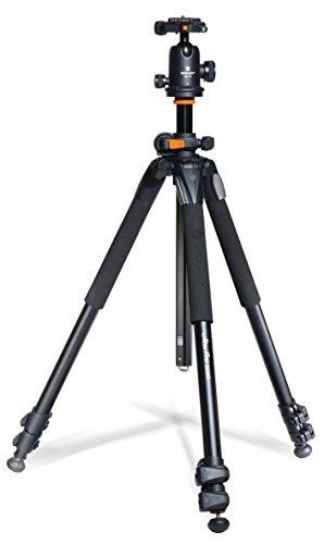 Vanguard Alta Pro 263AB 100 Aluminum Tripod with SBH-100 Ball Head for Sony, Nikon, Canon DSLR Cameras, Black (Renewed)