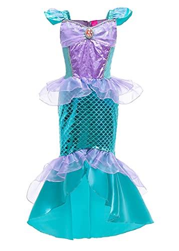 SLSCL Sirena Vestidos Princesa Disfraz Fiesta Cumpleaños Mermaid Largos Noche Bodas Vestidos...
