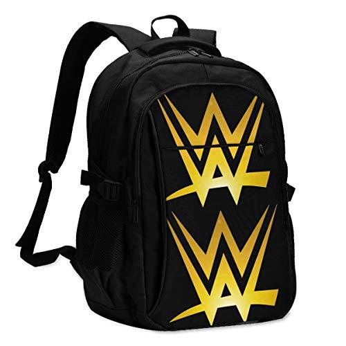 VILUAR Vvvwwevv Unisex Travel Laptop Backpack USB Charging Port Backpack Schoolbag Computer Bag for Boys & Girls
