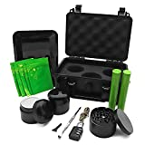 Stash Box with Lock, Grinder, Airtight Jar, Double-Ended Pick, Storage Tube, Tray, Wick, Storage Box with 5 Odorless Resealable Bags Suit for Travel Storage Accessories Smell Proof Kit