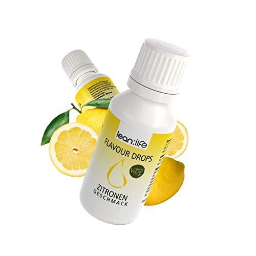 Lean:Life Flavour Drops - Aroma Tropfen - Zitrone - vegan, zuckerfrei, glutenfrei - ohne Kalorien - viele verschiedene Sorten - Made in Germany - 30ml
