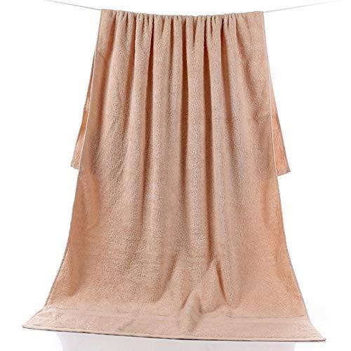 Xiaobing Toalla de baño Gruesa Grande de 90 * 180 cm Toalla de baño de algodón Puro para Adultos Multicolor -Caqui-90x180cm