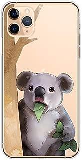 iPhone XI Max(6.5 英寸)手机壳,Blingy's 动物风格透明柔软 TPU 保护壳,适用于 iPhone 11 Max 6.5 英寸 2019 发行 Koala Eating Leaves