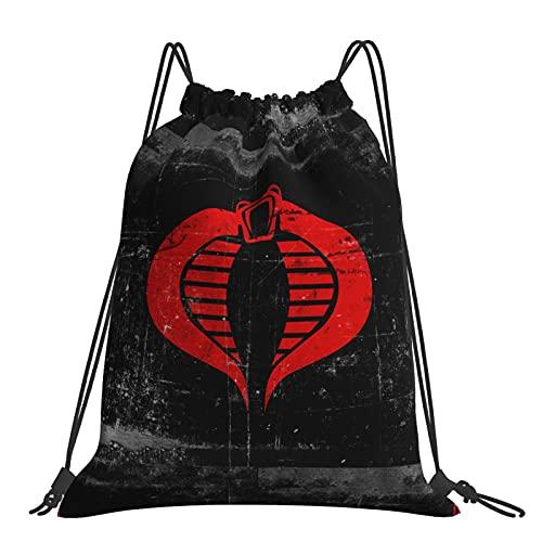 Asdfghur5 Gi Joe Cobra Travel Storage Oxford Cloth Drawstring Backpack Beam Backpack for Young Cool Tote Sack 14 X 16.5inchs