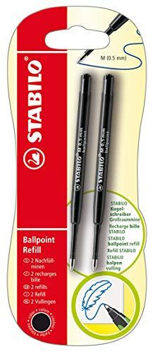 Kugelschreibermine - STABILO Ballpoint Refill - z.B. für STABILO pointball und SMARTball - 2er Pack - schwarz