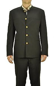 Michaelax-Fashion-Trade Herren Trachten Anzug aus Schurwolle, Marke Weis in der Farbe Anthrazit, Rottach/Egern (7026/7367-4/42/01)