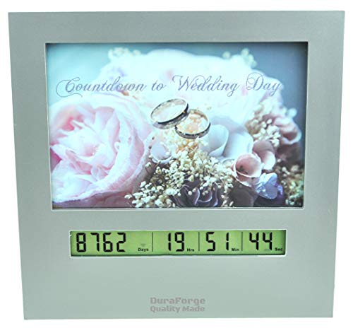Wedding Countdown Clock with Large Digital Display Day Timer is Also a 4x6 Picture Frame Use it as a Reusable Advent Calendar or Count Down to New Baby, Honeymoon Vacation Xmas Retirement