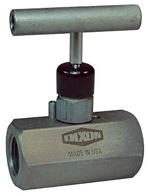 "Dixon FFC404 Steel Female to Female Mini Needle Valve, 1/2"" -14 NPT, T-Design Handle, 0.5"" ID, Zinc-Nickel Plated Steel from Dixon"