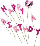 Minnie Mouse Bougies d'anniversaire sur pics Inscription Happy Birthday