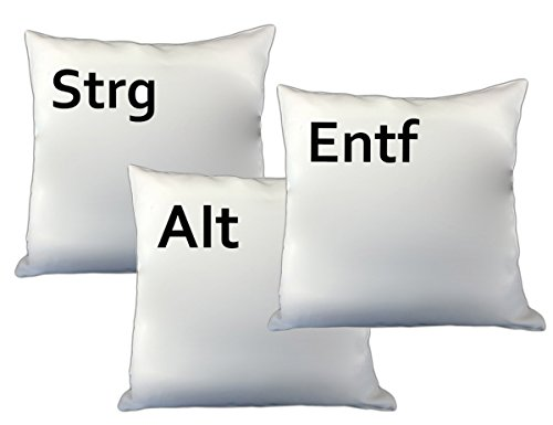 Loose Werbetechnik STRG ALT ENTF Kissen - Dekokissen 3 Kissen Setpreis