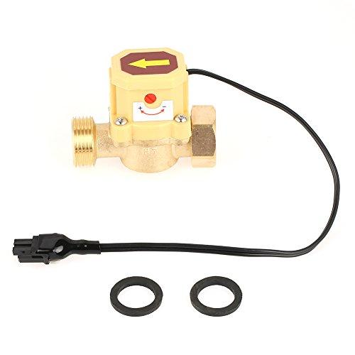 Interruptor de Flujo de Agua Rosca de 3/4 pulgadas Presión de Bomba de Metal 0.6 Mpa con 2 Lavadoras para Aumentar Presión de Agua 1pc