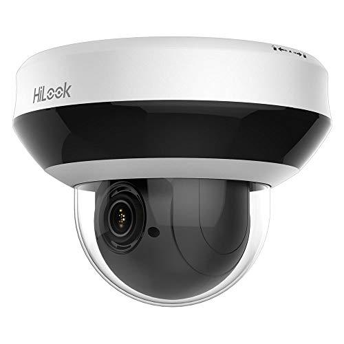 HiLook PTZ-N2204I-DE3 - Cámara de vigilancia (Cámara de Seguridad IP, Interior y Exterior, Almohadilla, Negro, Blanco, Techo, Acrilonitrilo butadieno estireno (ABS), Aluminio, Policarbonato)