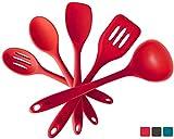 StarPack Basics Silicone Kitchen Utensil Set (5 Piece Set, 10.5')...