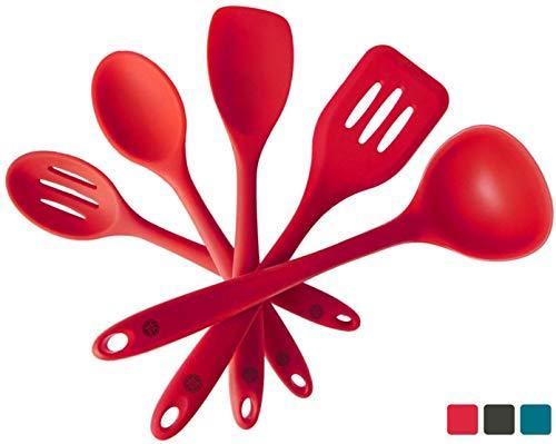 StarPack Basics Silicone Kitchen Utensil Set (5 Piece Set, 10.5') -...