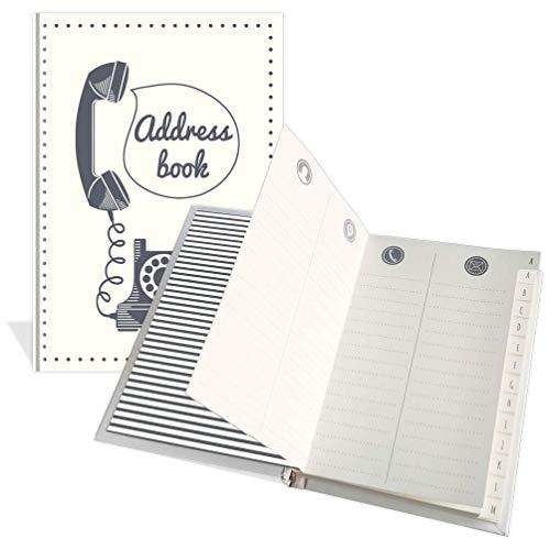 Lussuosa rubrica tascabile – design telefono vintage – 104 pagine – Dimensioni 91 mm x 130 mm