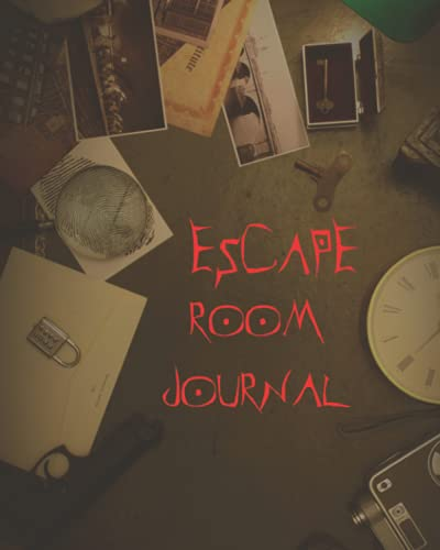 escape room journal: Record your adventure with pictures and information about the escape room.