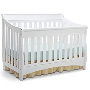Delta Children Bentley S Series 4-in-1 Convertible Baby Crib, White