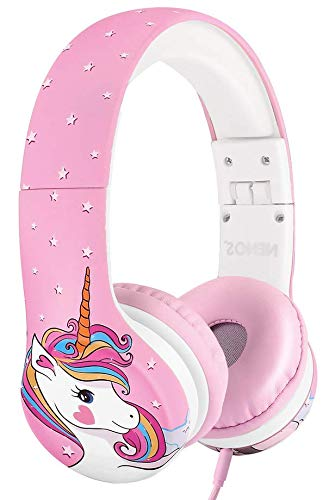 Nenos Kids Headphones Children's Headphones for Kids Toddler Headphones Limited Volume Unicorn Unicorn