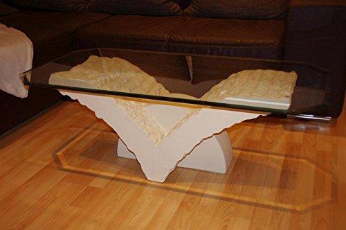 Antikes Wohndesign Couchtisch Wohnzimmertisch Glas Tisch Steintisch