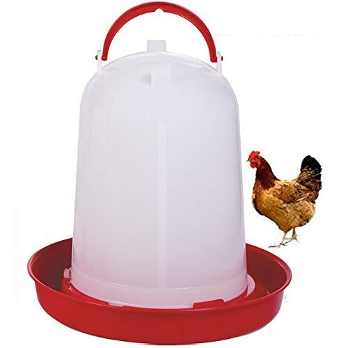 Suinga Bebedero GALLINAS 8 litros para posar. El Bebedero más Utilizado para Aves. Incluye Plato.