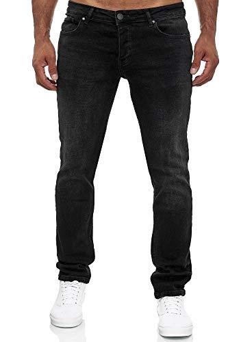 MERISH Jeans Herren Slim Fit Jeanshose Stretch Designer Hose Denim 502 (36-32, 502-3 Schwarz)