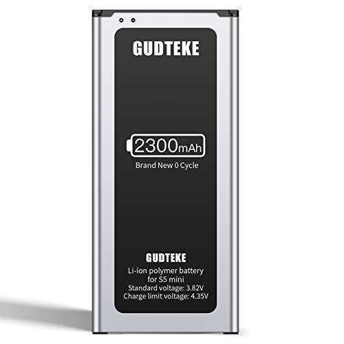 GUDTEKE Replacement für Galaxy S5 Mini | 2020 Baujahr | Entspricht Dem Original EB-BG800BBE | Lithium-Ionen-Akku der Modelle SM-G800F | Duos SM-G800H | Ersatz Handy-Akku für Ihr Smartphone