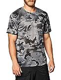 NIKE Camiseta para Hombre Dry Leg Camo AOP Gris Ahumado/Gris. L