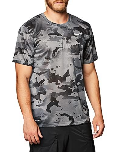 NIKE Camiseta para Hombre Dry Leg Camo AOP Gris Ahumado/Gris. XXL