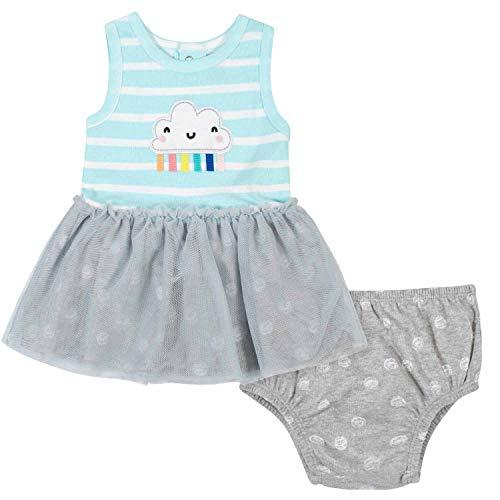 Gerber Baby - Vestido y Funda para pañales, 2 Piezas, diseño de Nubes