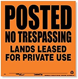 Voss Signs Orange Aluminum Posted Lands Leased Signs (25 pack)