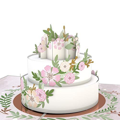 Lovepop Wedding Cake Pop Up Card - Greeting Card, 3D Cards, Wedding Cake Card, Cards Wedding, Engagement Gift, Bridal Shower
