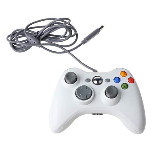 WOWOWO Joypad de Juego con Cable para -Xbox 360 Console Gamepad Joy...