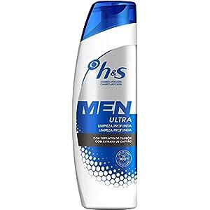 H&S Men Ultra Limpieza Profunda Champú anticaspa con carbón para un pelo y un cuero cabelludo ultralimpios - Pack de 6 x 225ml: Amazon.es: Belleza