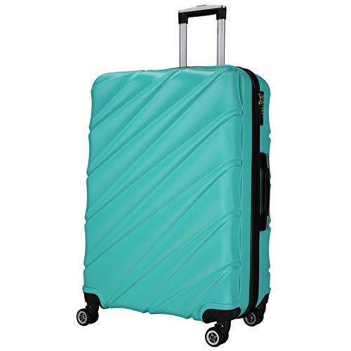 Shaik Serie Candy Design LHR | TSA Schloss | Größe XL ca. 77 x 51 x 30 cm Hartschalen Koffer 120 Liter, 4 Doppelrollen, 25% Mehr Volumen durch Dehnfalte