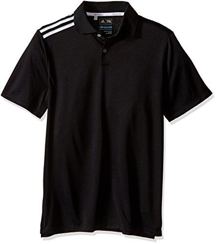 adidas Golf Boys B Climacool 3-Stripes Polo Shirt, Black/White, Large