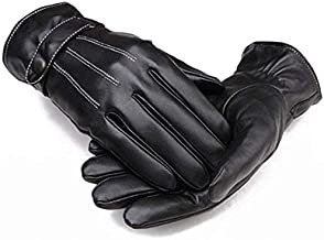 Men Warm Lined Leather Gloves Skiing Cycling Driving Riding Comfort
