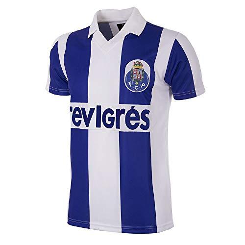 Copa Camiseta de fútbol Retro del FC Porto 1986-87 para Hombre, Hombre, 127, Blanc y Azul, XL