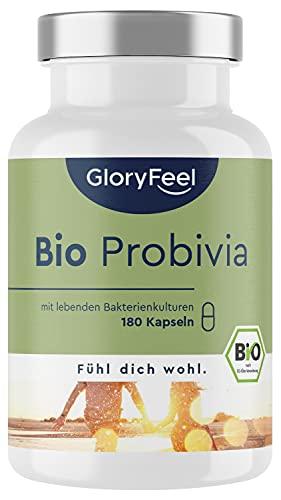 Bio Probivia Kulturen Komplex - 21 Bakterienstämme + Bio-Inulin - 20 Mrd KbE pro Tagesdosis - 180 magensaftresistente Kapseln - Hochdosiert, vegan, laborgeprüft hergestellt in Deutschland