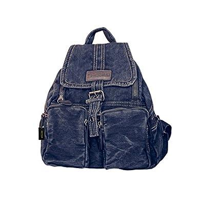 Women's Retro Denim Backpack School College Bag Daypack
