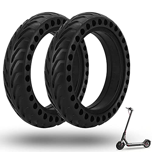 GYAM Neumáticos de Ruedas de Scooter eléctrico, diseño de Panal, neumático sólido de Goma, neumático Delantero/Trasero, Ruedas de Repuesto para Scooter