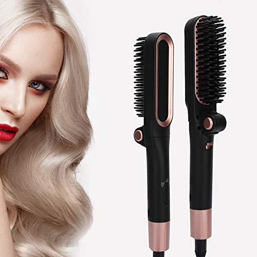 Lisseur à cheveux Peigne Lisseur à cheveux pliant Peigne 3 vitesses Massage de la température Lisseur Peigne Auto-Off Coffre-fort et facile à utiliser