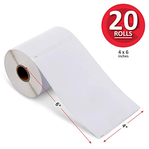 enKo Products - 4' x 6' Blank Shipping Labels Compatible with Zebra & Rollo Label and Dymo 1744907...