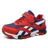 HSNA Zapatillas para Niño Zapatos Transpirables Caminar Correr Trainers Kids(a10 Rojo 33 EU)