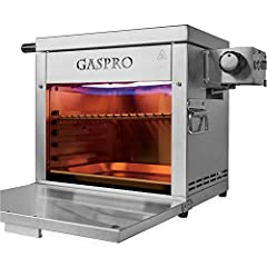 Boasts the infrared cooking system reaches an incredible 1500°F, serves up steakhouse-quality steaks about 2 min per side. Matched a cast-iron griddle to achieve multi-tasking cooking 6-notches in the grill rack determined the grate's proximity to th...