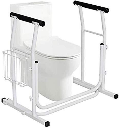 Rieles para Inodoro - Marco de Seguridad para baño - Ayudante de barandilla para Ancianos, discapacitados, Personas Mayores - Barra de pasamanos de Asistencia bariátrica - Altura Ajustable, se ad