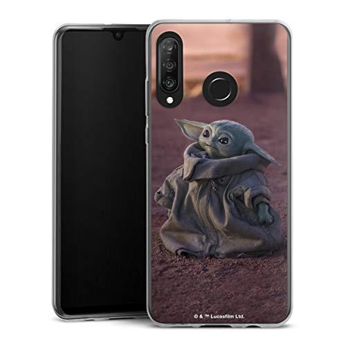 DeinDesign Slim Hülle extra dünn kompatibel mit Huawei P30 Lite New Edition Silikon Handyhülle transparent Hülle Star Wars The Child Baby Yoda