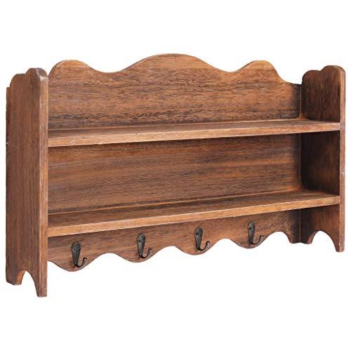 BBalm - Appendiabiti da parete in legno, 50 x 10 x 30 cm, colore: Marrone