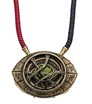 Marvel's Doctor Strange Eye of Agamotto Replica Necklace | Officially Licensed Marvel Collectible Prop | Premium Quality Movie Replicas | Superhero Accessory Perfect For Cosplay Costumes Halloween